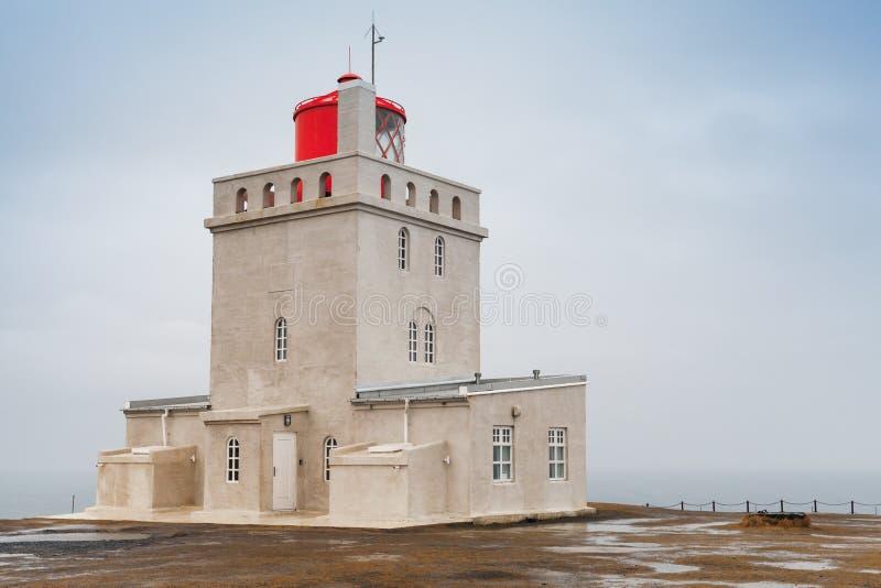 Dyrholaey lighthouse tower, Iceland. Dyrholaey lighthouse tower, South coast of Iceland island stock images