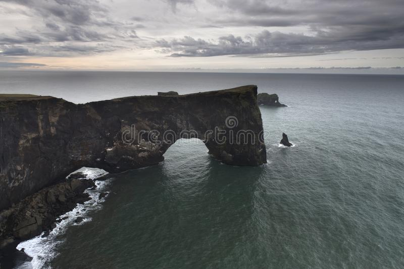 Dyrholaey promontory, Iceland royalty free stock image