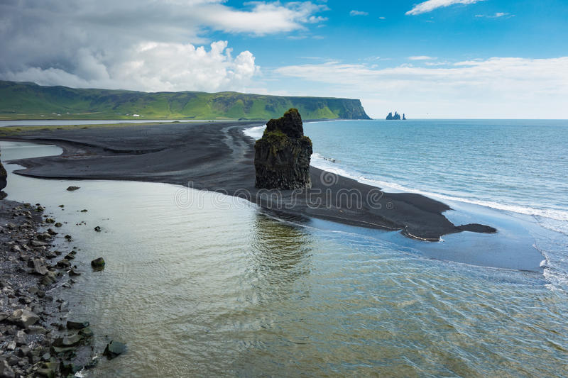 Dyrholaey. Scenic view from the Dyrholaey promontory, Iceland stock image