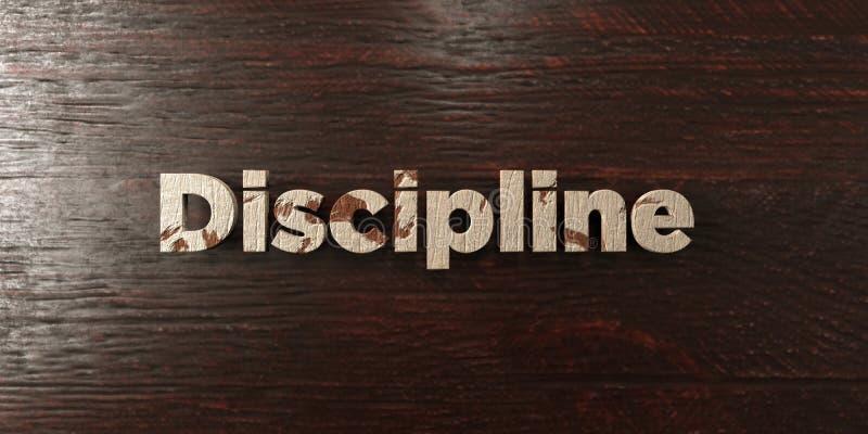 Dyscyplina - grungy drewniany nagłówek na klonie - 3D odpłacający się królewskość bezpłatny akcyjny wizerunek ilustracji