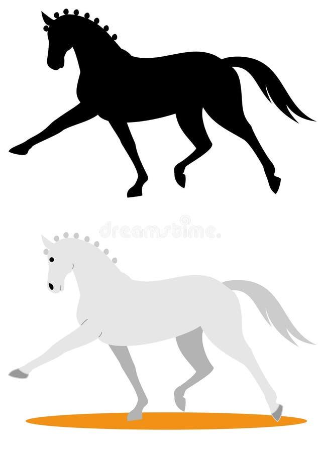 dyscyplinuje dressage ubierającego equestrian formalności gemowego końskiego horsewoman wizerunku olimpijskiego realistycznego sp ilustracja wektor