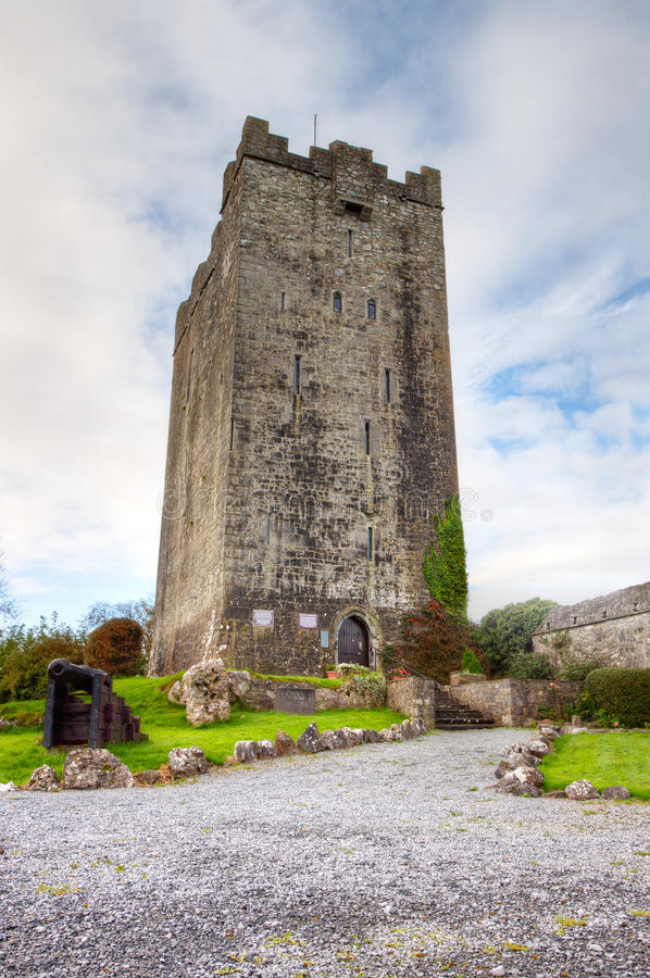 Dysert O Dea Schloss, Co. Clare - Irland. Stockbild