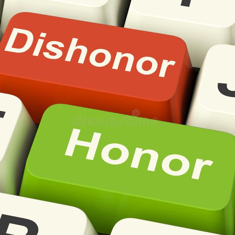 Dyshonoru honor Wpisuje przedstawienie morały I prawość ilustracji