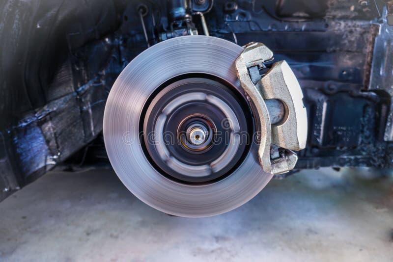 Dysków hamulce, zatrzymuje przerwę, Samochodowego zawieszenie i samochód, znoszący części pojęcie -3 fotografia stock
