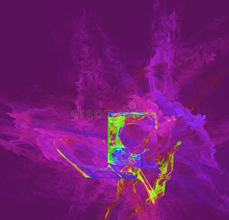 dysk amonu dyskietkę psychodeliczny ogień ilustracji