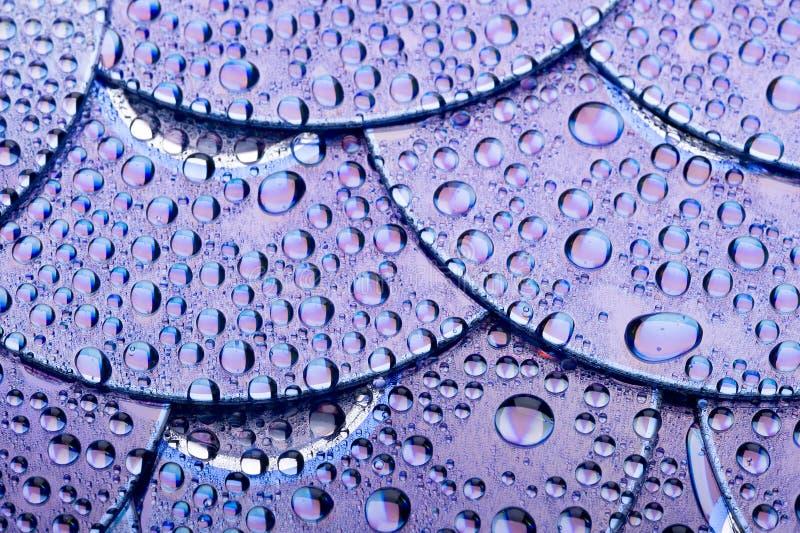 Download Dysk i wody krople obraz stock. Obraz złożonej z kropla - 13335697