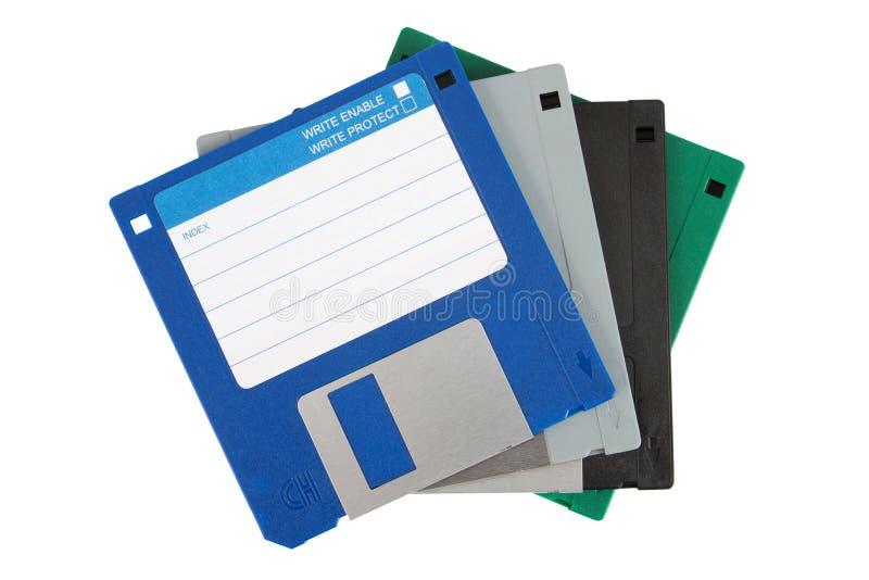 dyska barwiony floppy cztery fotografia royalty free