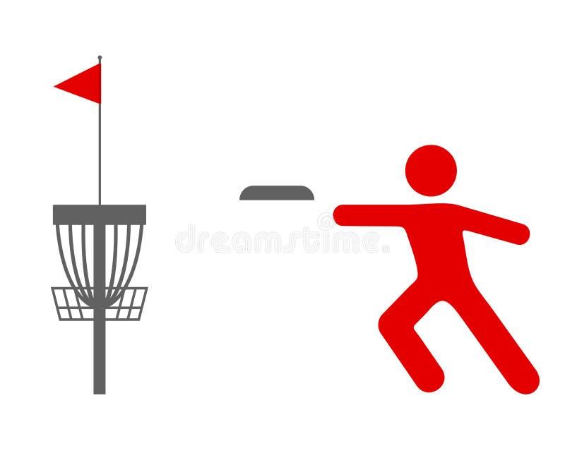 Dyska golfa sporta symbol ilustracji