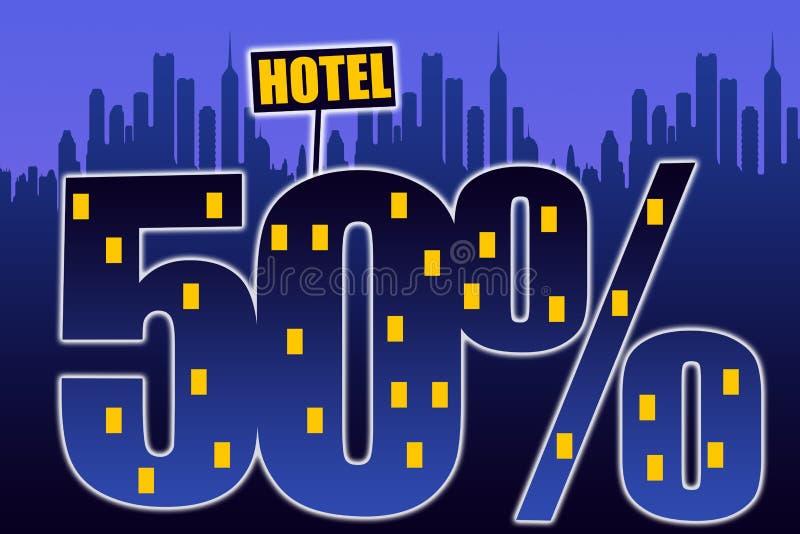 dyskontowy hotel ilustracja wektor