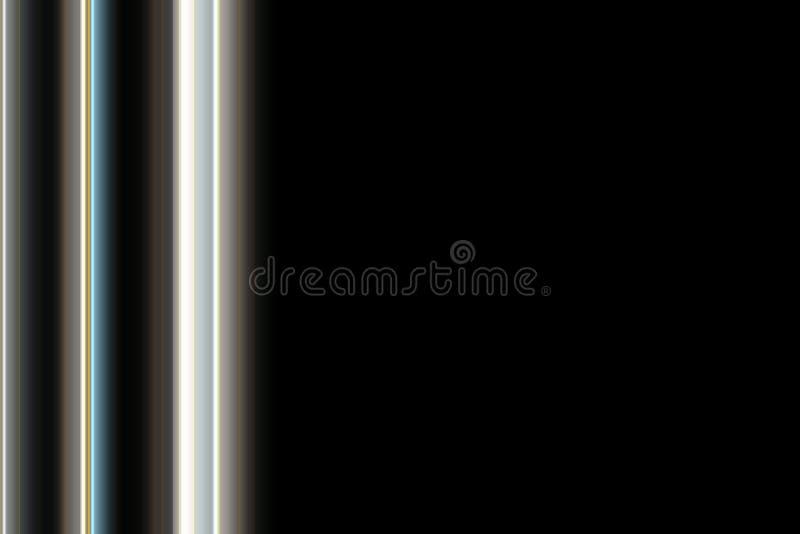 Dyskotek światła na czarnym tle ilustracja wektor