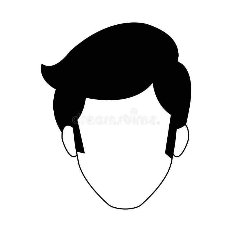 Dyskoteka mężczyzna beztwarzowy w czarny i biały ilustracji