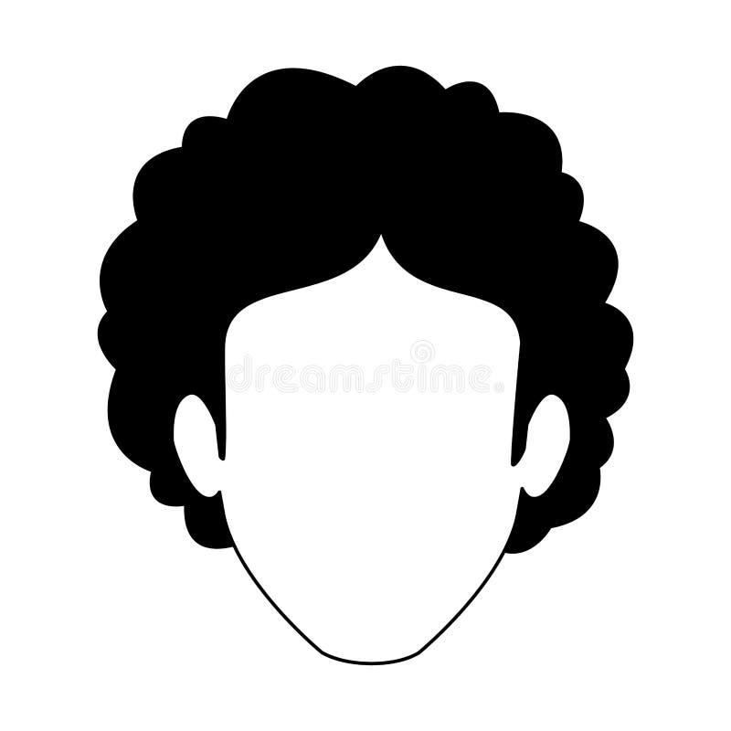 Dyskoteka mężczyzna beztwarzowy w czarny i biały ilustracja wektor
