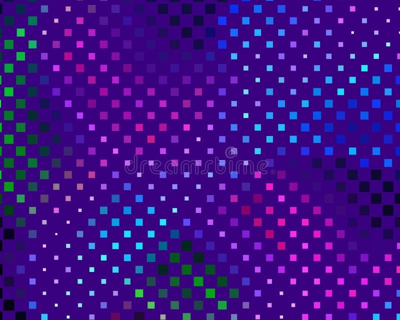 Dyskoteka panel Jaskrawy dynamiczny tło z kwadratami Geometrical postać różny szalkowy neonowy kolor również zwrócić corel ilustr royalty ilustracja