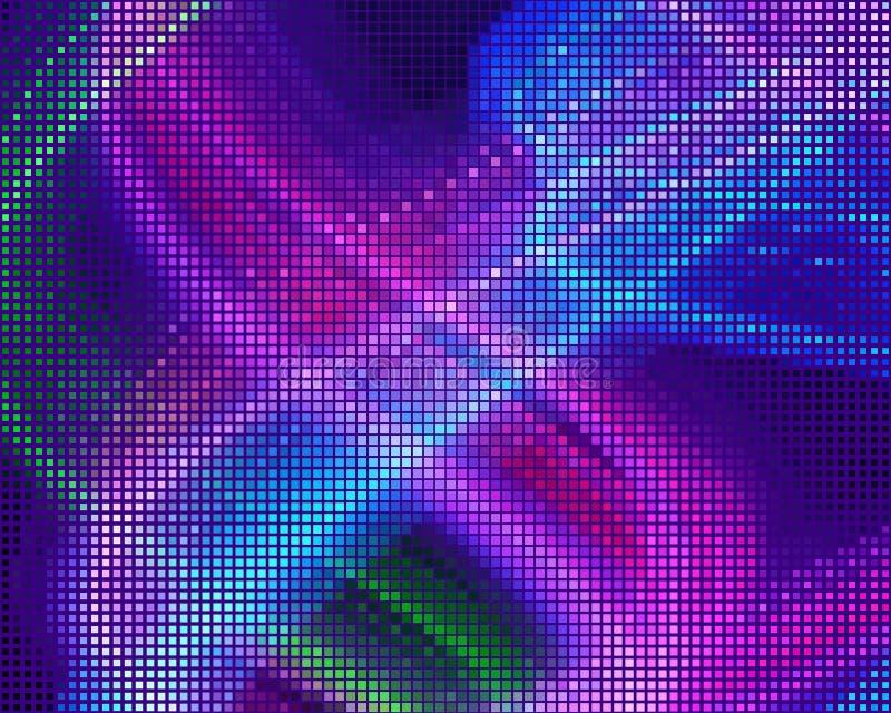 Dyskoteka panel Jaskrawy dynamiczny tło z kwadratami Geometrical postać różny szalkowy neonowy kolor również zwrócić corel ilustr ilustracja wektor