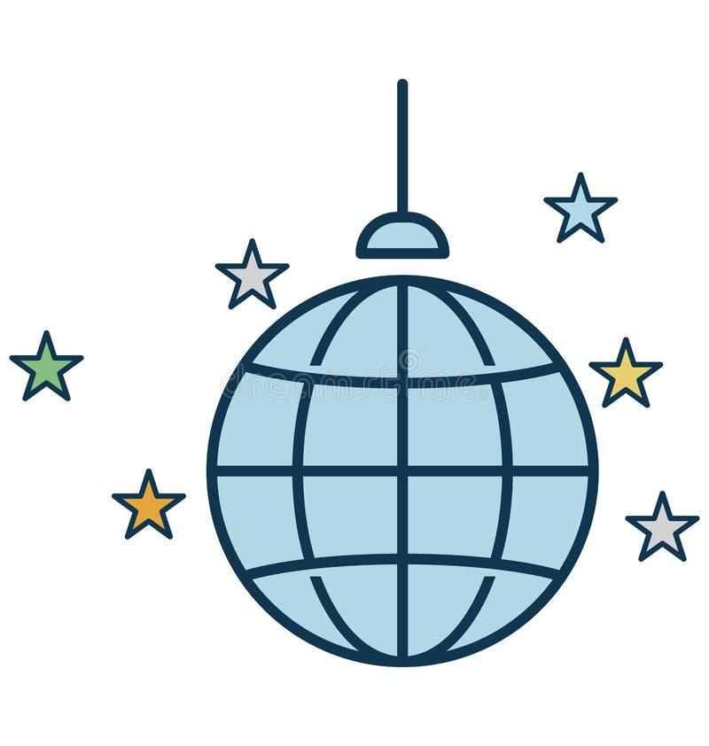 Dyskoteka tana Lub piłki Balowa Wektorowa ikona ilustracji