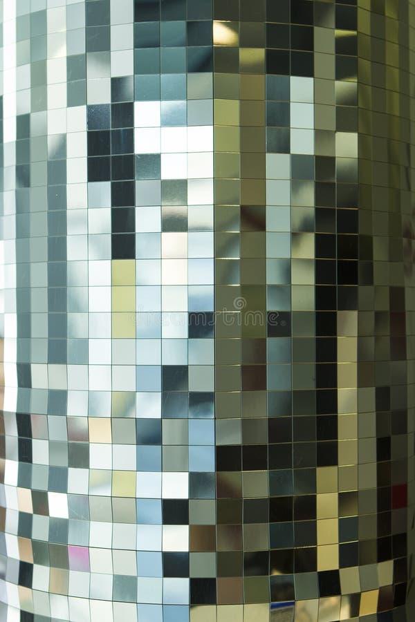 Dyskoteki ścienny tło, mozaiki bacground fotografia stock