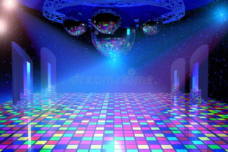 Dyskoteki dancingowy tło ilustracja wektor