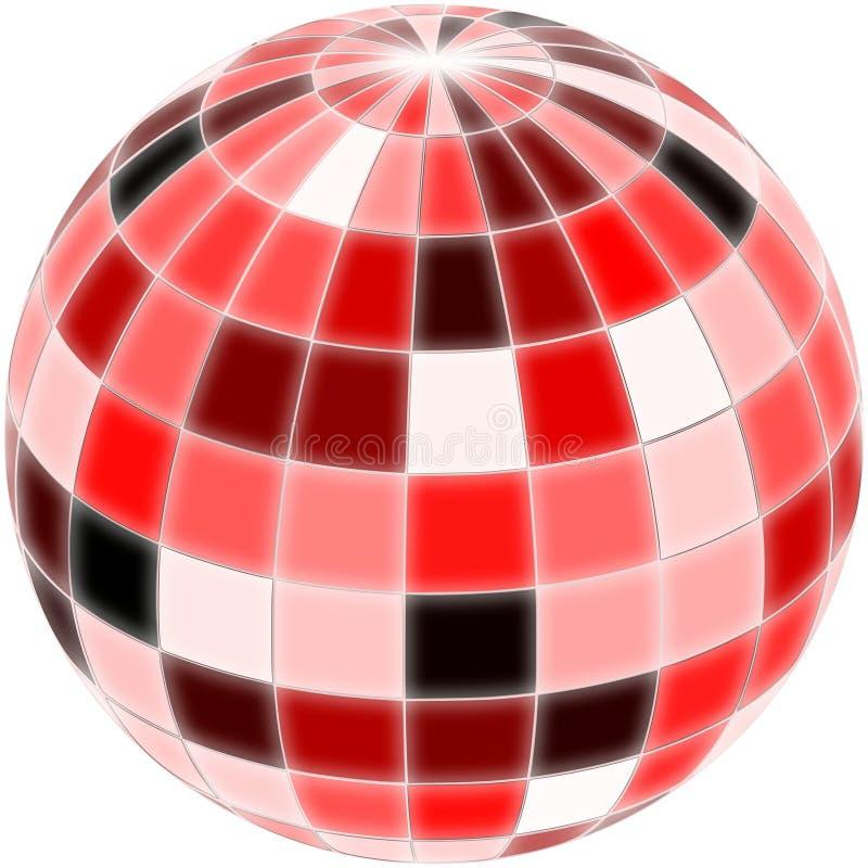 Dyskoteki piłka z inaczej naszłymi kolorami royalty ilustracja