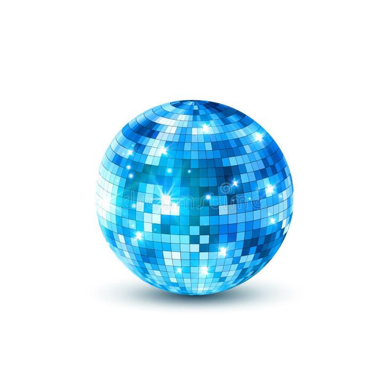 Dyskoteki piłki odosobniona ilustracja Noc klubu przyjęcia światła element Jaskrawy lustrzany złoty balowy projekt dla dyskoteka  ilustracja wektor