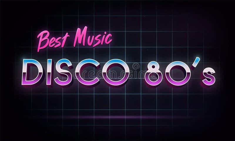 Dyskoteki 80 ` s najlepszy muzyka - sztandar ilustracji