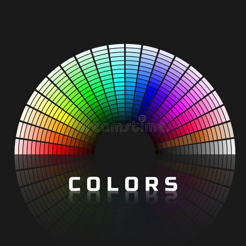 Dyskretny set kolor?w cienie z br?zem i szaro?? P??kole koloru paleta T?cza koloru widmo r?wnie? zwr?ci? corel ilustracji wektora ilustracji