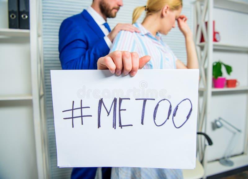 Dyskryminacja napadu skarga Skandalu wykorzystywani seksualne ofiara Napad przy miejsce pracy Napad celujący przy pracownikiem dz zdjęcie royalty free