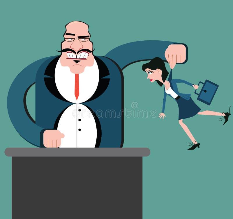 Dyskryminacja pracownicy Kukły biznesowe Szefów kontrolni pracownicy royalty ilustracja