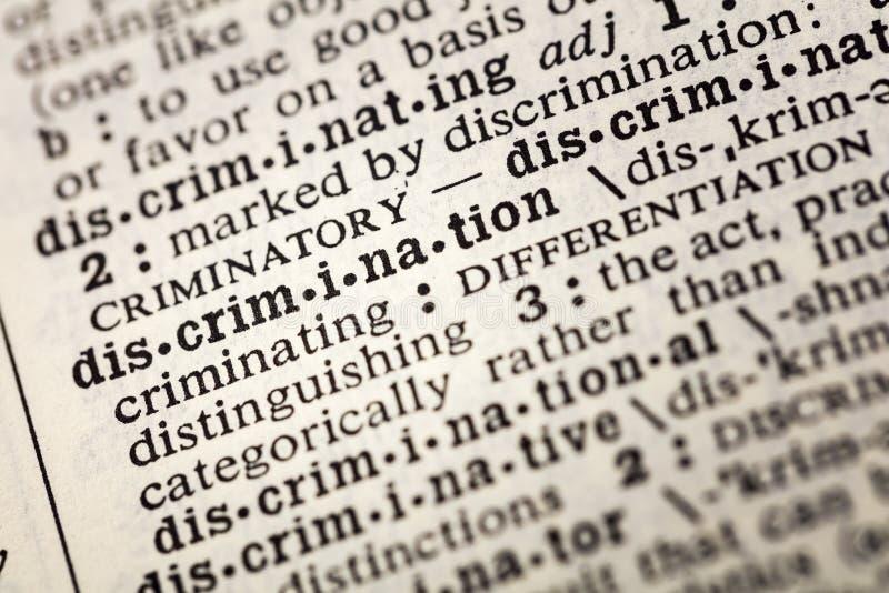 Dyskryminacji definicja odróżnia różnicę obrazy royalty free