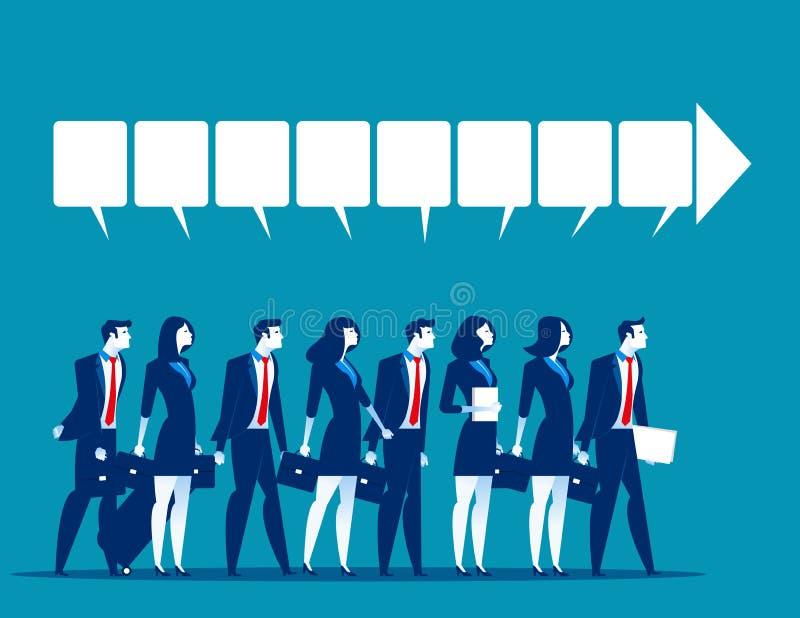 dyskusja Biznesu drużynowy opowiadać sukces Biznesowy wektor ilustracji