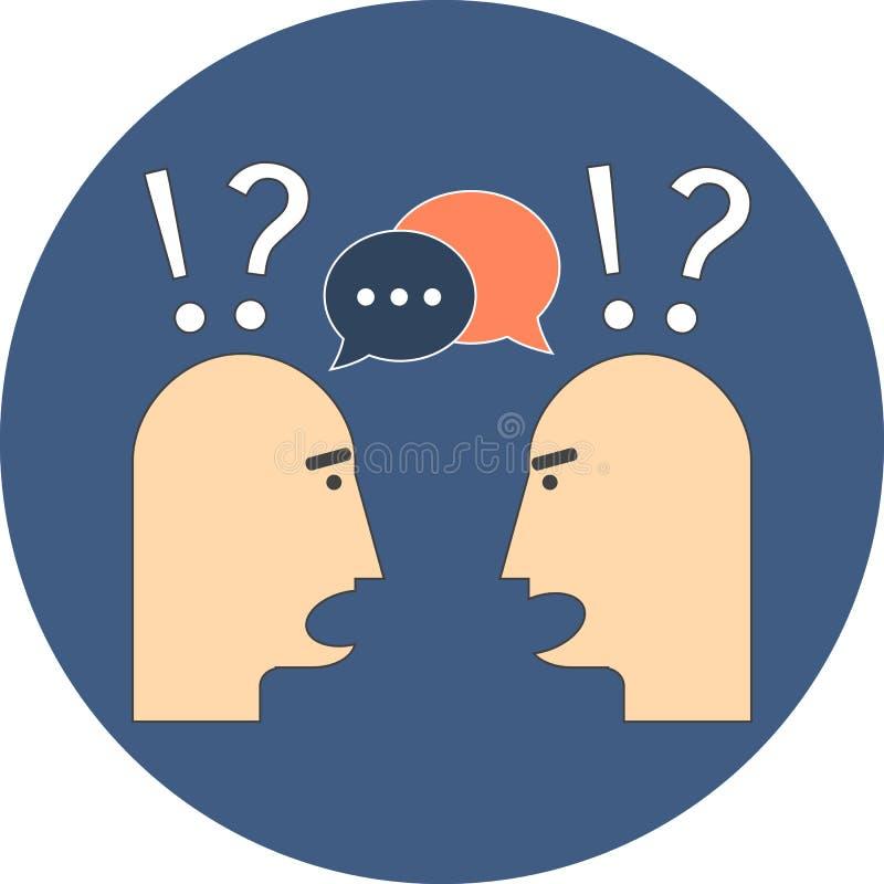 Dyskusja, gadki pojęcie Płaski projekt ilustracja wektor