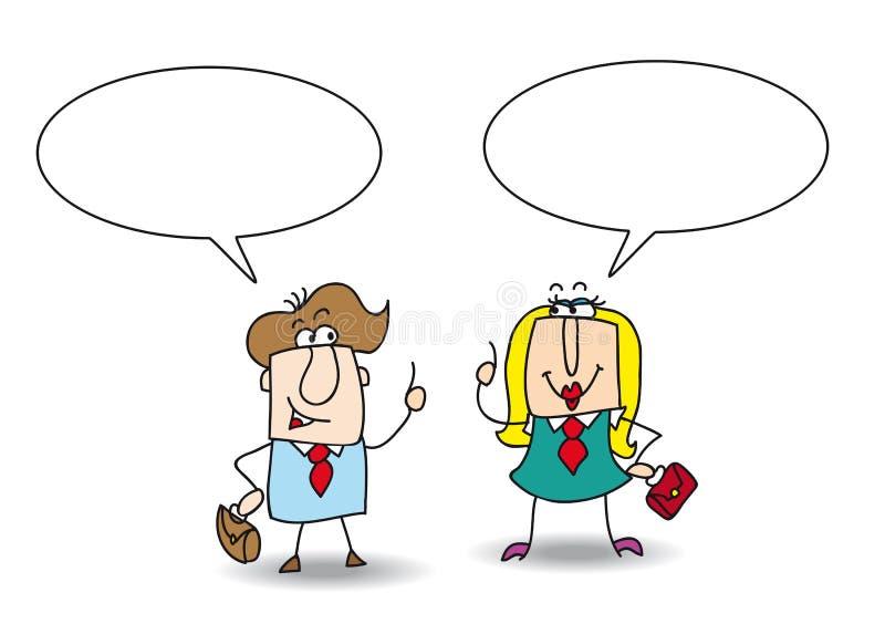 Dyskusja między Josh i Betty royalty ilustracja