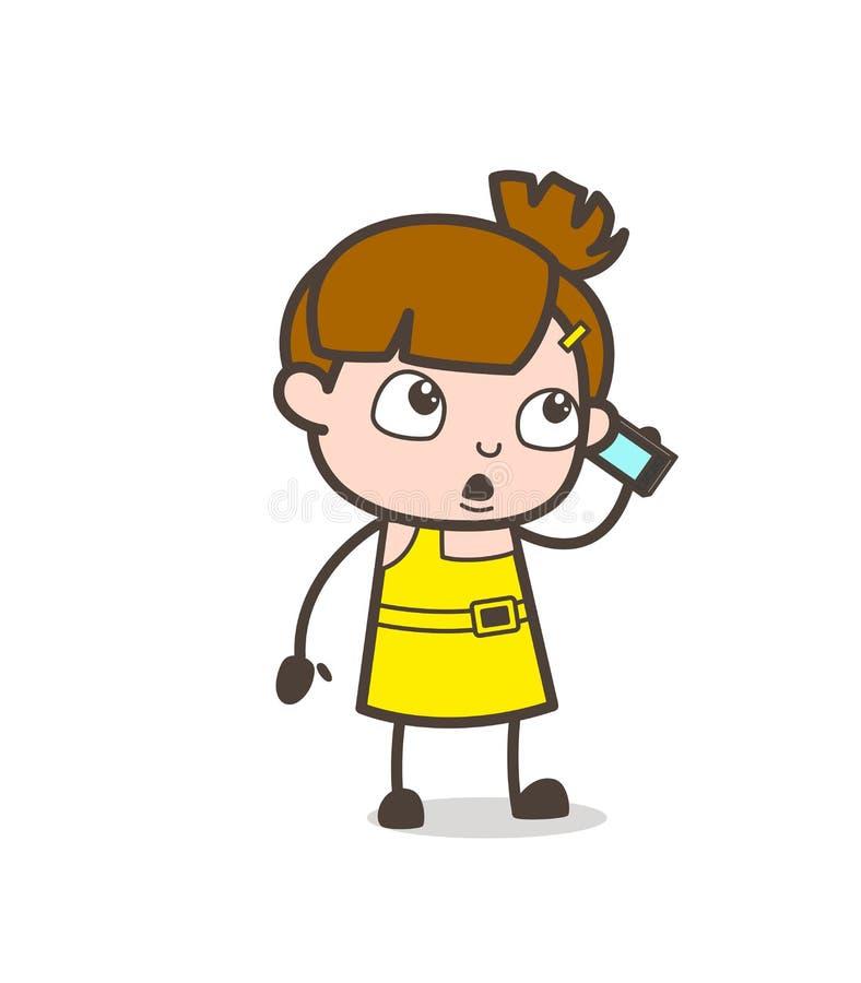 Dyskusja na wiszącej ozdobie - Śliczny kreskówki dziewczyny wektor ilustracji