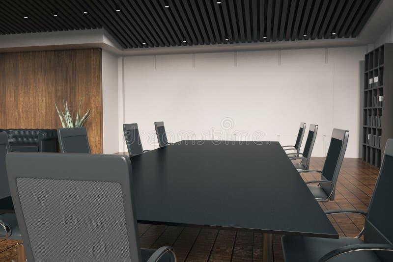 Dyskusja stół w pokoju ilustracji