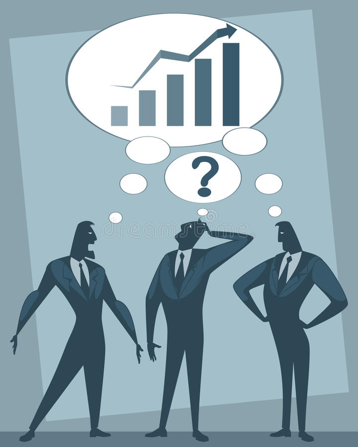 Dyskusja trzy biznesmena ilustracji