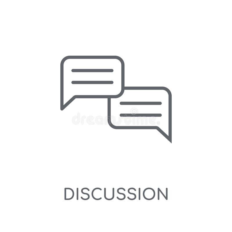 Dyskusji liniowa ikona Nowożytny kontur dyskusji logo pojęcie o ilustracja wektor