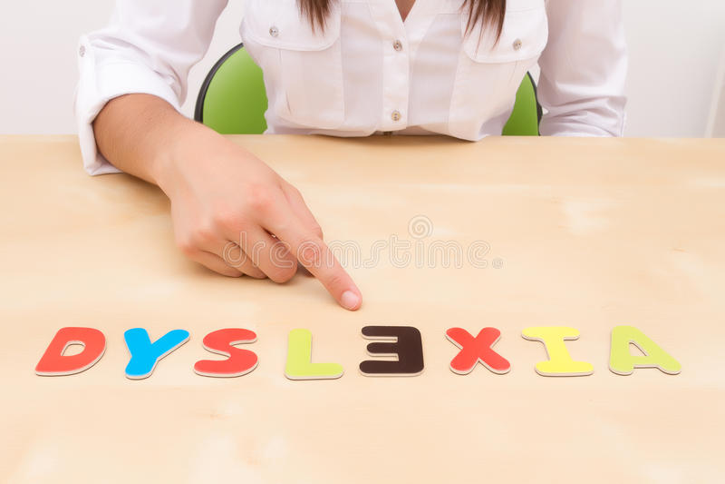 Dysleksja zdjęcia stock