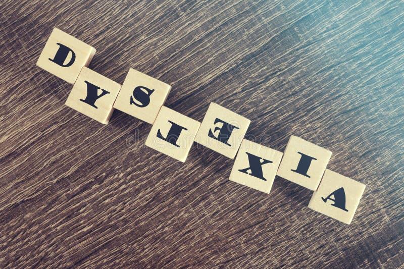 dyslexia Conceito das dificuldades da leitura imagem de stock royalty free