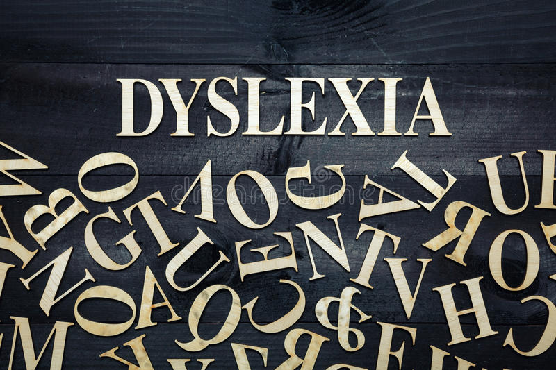 Dyslexia concept royalty free stock photos