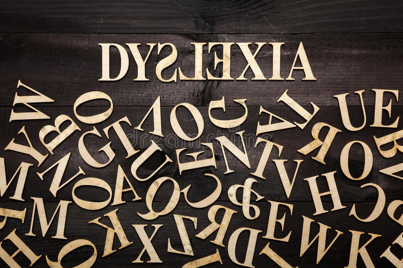 Dyslexia concept royalty free stock photography