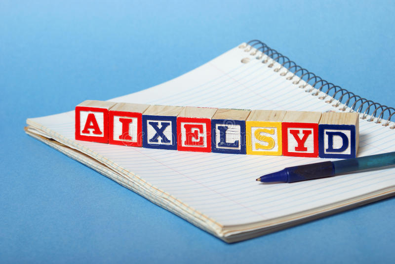 Dyslexia Difficulties. A concept based on dyslexia and its difficulties royalty free stock photos