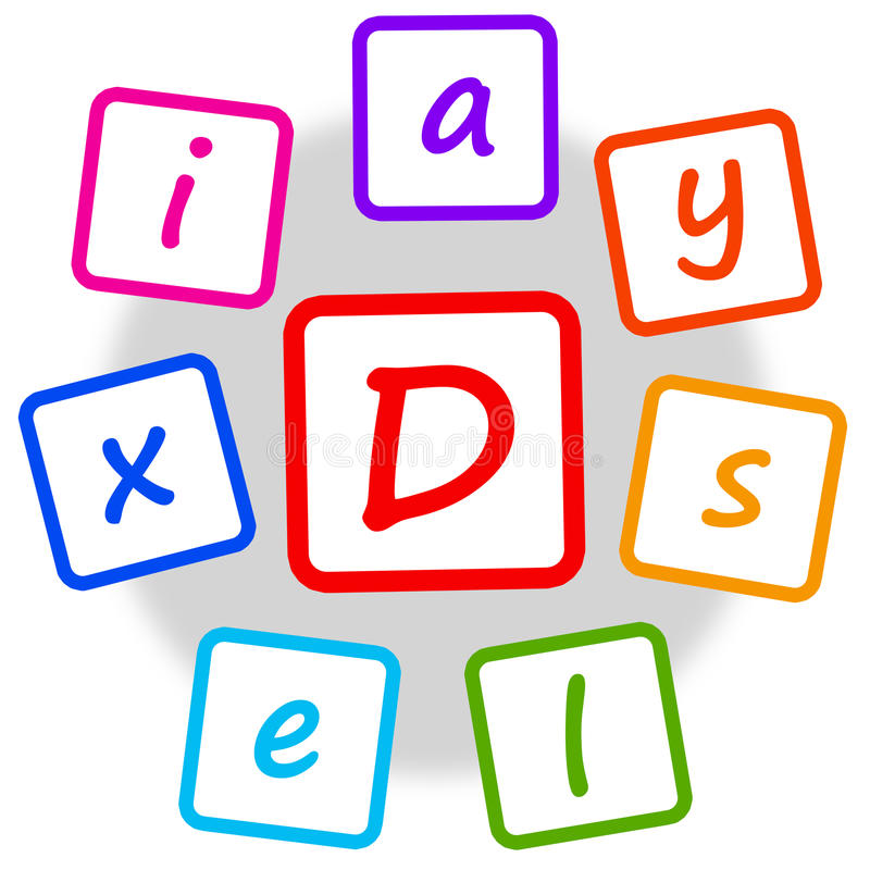 Dyslexie royalty-vrije illustratie