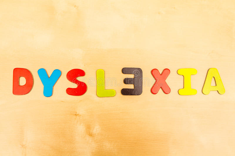Dyslexie images stock
