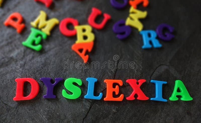 Dyslexie dans des lettres de jeu photos libres de droits