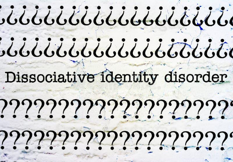 Dysocjacyjny tożsamość nieład fotografia stock