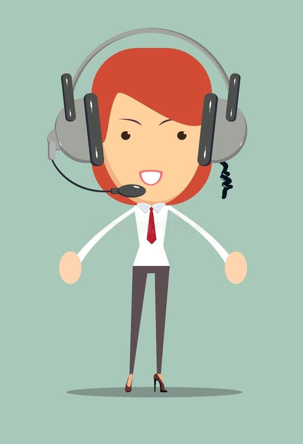 Dyspozytora konsultanta ikona royalty ilustracja