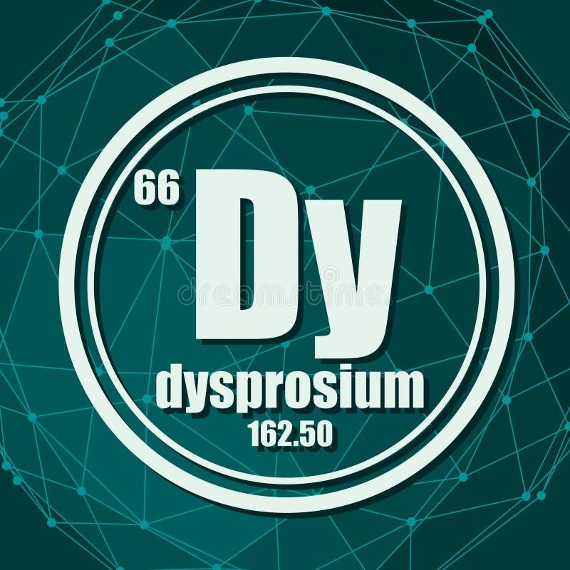 Dysprosium chemisch element vector illustratie