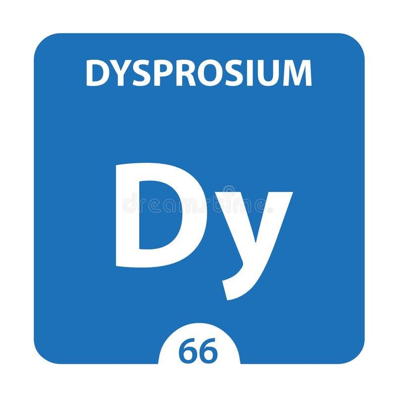 Dysproz Chemical 66 element układu okresowego Tło Molekułu I Komunikacji Dysproz Chemical Dy, laboratorium i ilustracja wektor