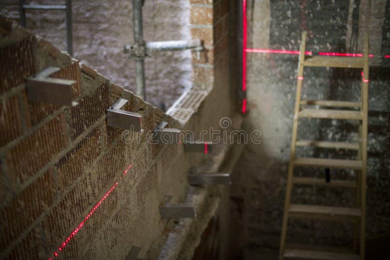 Dystansowy laserowy metr obraz stock