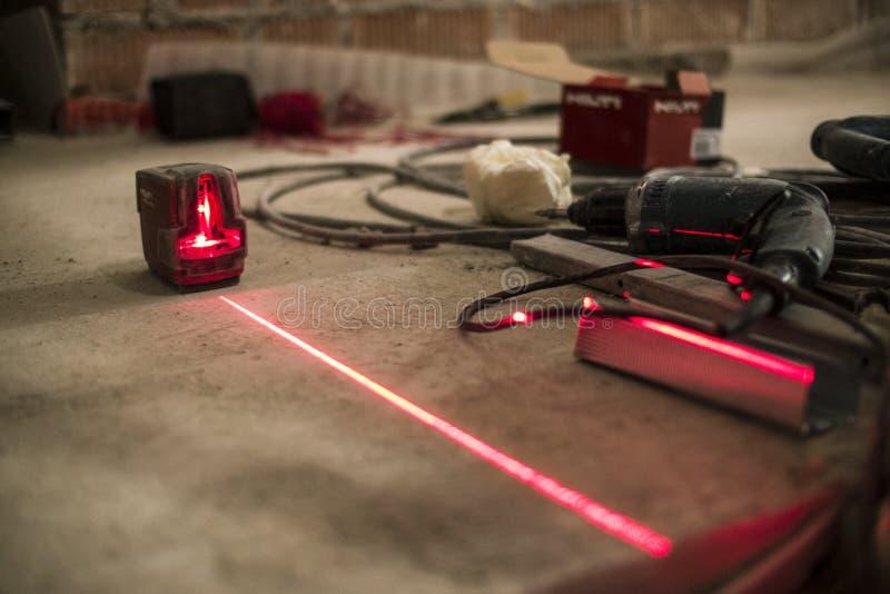 Dystansowy laserowy metr zdjęcie royalty free