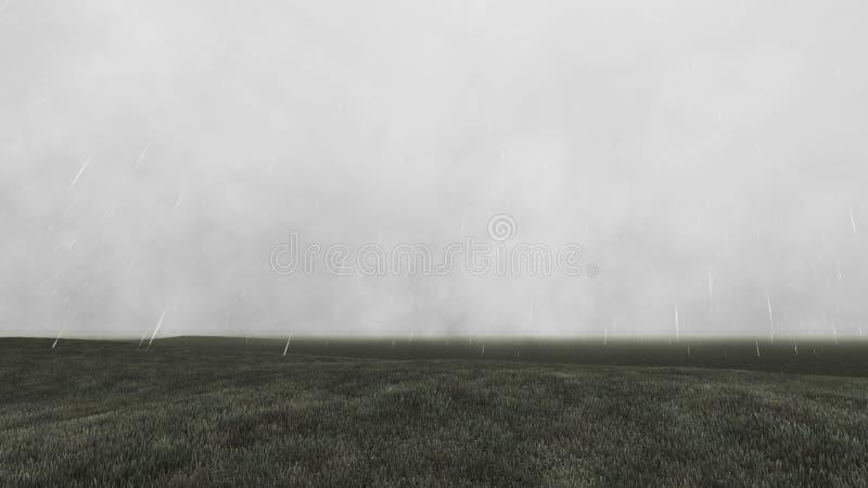 Dystert landskap med regn 6 arkivfoton